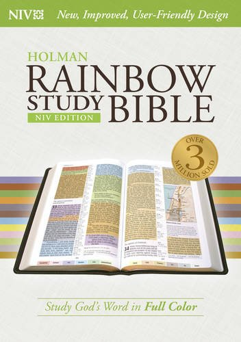 NIV Rainbow Study Bible, Jacketed Hardcover (Color Coded Bible compare prices)