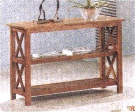 Cheap Cross Design Brown Finish Console Sofa Table (VF_AZ00-13238×29240)