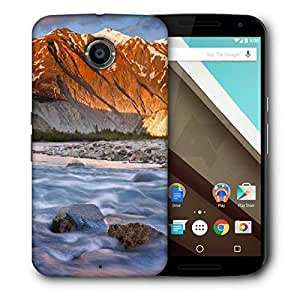 Snoogg Flowing Water Printed Protective Phone Back Case Cover For LG Google Nexus 6