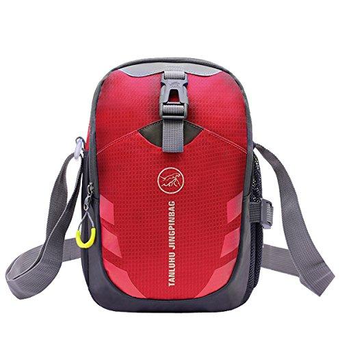 Zerd Multi-Functional Unisex Outdoor Sports Hiking Travelling Crossbody Shoulder Bags Men Red