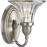 Progress Lighting P2724-101 1-Light Bath Bracket, Classic Silver