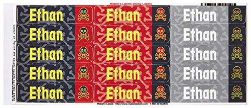 Mabel'S Labels 40845036 Peel And Stick Personalized Labels With The Name Ethan And Skull Icon, 45-Count front-535074