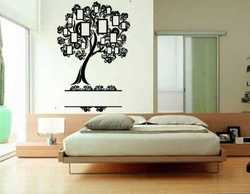 Stunning Wall Sticker Mural Vinyl Nature Genealogical Family Tree Photo Album S