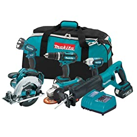 Makita LXT601 18-Volt LXT Lithium-Ion Cordless Combo Kit, 6-Piece