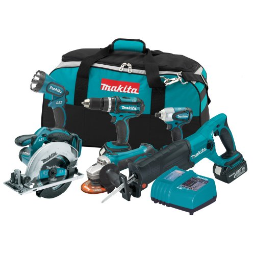 Makita LXT601 18Volt LXT LithiumIon Cordless Combo Kit, 6Piece