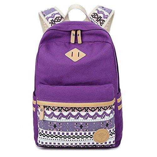 JSbetter Leinwand Freizeit Rucksack Vintage Travel Bag Sporttasche Bag Schultasche Rucksack Umhaengetasche fuer die Schule