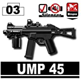 UMP 45 (Black) - LEGO Compatible Minifigure Piece
