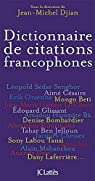 Dictionnaire de citations francophones