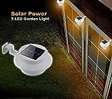 lucrubun ソーラー充電で電気代いらず! ガーデンライト 防犯ライト 外壁 階段 玄関口に取り付け