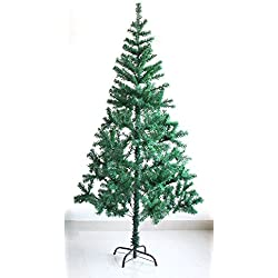 Salutto 4.9 Feet 240 Branch Tips Premium Artificial Christmas Pine Tree With Solid Metal Stand