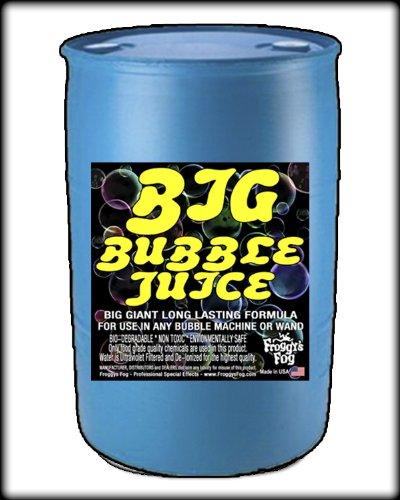 [55 Gal - BIG Bubble Juice - Enormous Long-Lasting Bubble Fluid] (Big Fog Machine)