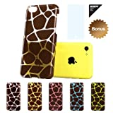 ESR Animal Kingdom Series Hard Clear Back Cover Snap on Case for iPhone 5C (Giraffe)