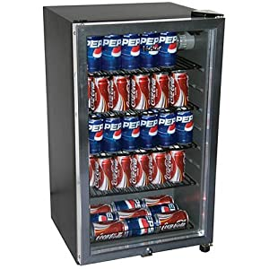 Haier HC125FVS - 125-Can Beverage Center, Black