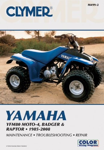Yamaha YFM80 MOTO-4, Badger & Raptor 2001-2008 (Clymer Color Wiring Diagrams)