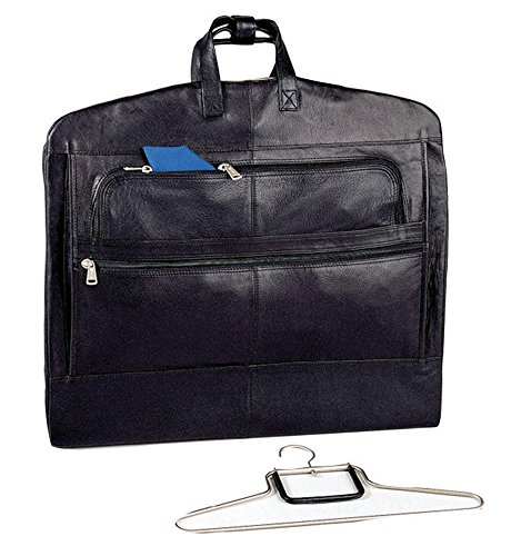 Winn-Napa-Supple-Leather-Garment-Carrier-One-Hanger-Included-Black-Cognac