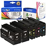 HP 950XL & 951XL Compatible 5 New Ink Cartridges with Sophisticated XL Chips (2 Black, 1 Cyan, 1 Magenta, 1 Yellow)