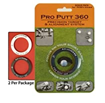 Pro Putt 360 - 2 Golf Ball Liners / Practice Targets! Now you can draw a line completely around the ball! Improve your Short Game!