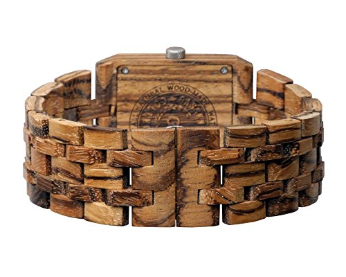 Wooden Watch by Gassen James - Omega III Zebra Wood