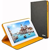 JETech® Diamond Leather iPad Mini Smart Cover Case for Apple iPad Mini and the New iPad Mini II with Retina Display (2014 Version with Built-in Stand and Front/Back Protection and Built-In Magnet for Sleep/Wake Feature) (Black)