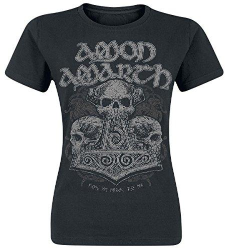 Amon Amarth Skull Hammer Maglia donna nero XXL