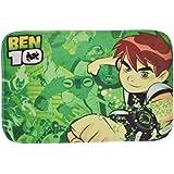 Baby Bucket Ben 10 Fancy Anti Slip Floor Mat Design Door Mats (Green)