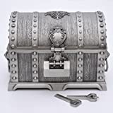 ジュエリーボックス ドラクエ装飾 宝箱風 アンティーク小物入れ 鍵付