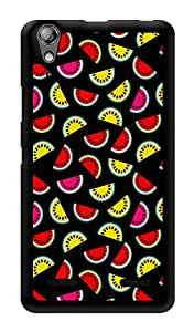 """Humor Gang Watermelon Fruit Pattern - Green Printed Designer Mobile Back Cover For """"Lenovo A6000 Plus"""" (3D, Glossy, Premium Quality Snap On Case)"""