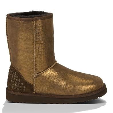 New UGG® Australia Classic Short Lizard Studs Bronze 10 Womens Boots