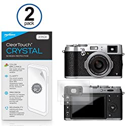 Fujifilm x100T Screen Protector, BoxWave [ClearTouch Crystal (2-Pack)] HD Film Skin - Shields From Scratches for Fujifilm x100T