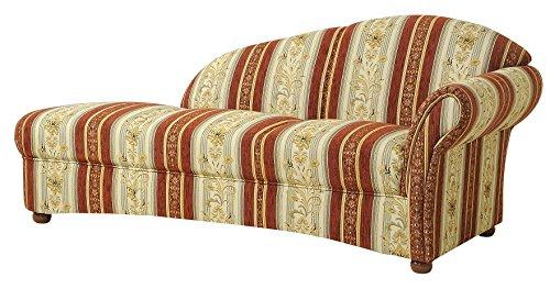 Max Winzer 6110-6320-2046823 Recarmiere Charlotte im Landhausstil, Armlehne rechts, Chatosenseitenteil, Chenillegewebe, rot