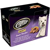 Cesar Senior Dog Food Pouches Mixed Selection in Gravy 8x150g (Pack of 4, Total 32 Pouches)