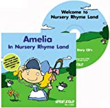 Barafundle Personalised Story CD Amelia in Nursery Rhyme Land