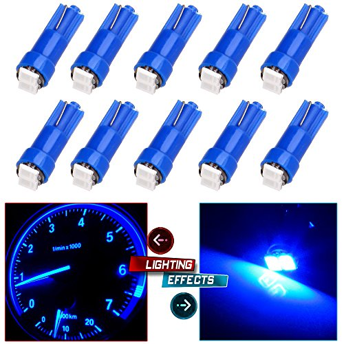 CCIYU 10 x T5 Ultra Blue 58 70 73 74 Dashboard Gauge 2SMD LED Wedge Lamp Bulb Light (Honda Accord 1992 Parts compare prices)