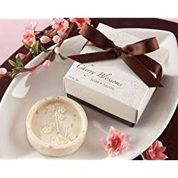 Creative Soap for Wedding Soap Favors and Gifts or Baby Shower Soap Favors (30, Cherry Blossom Soap)