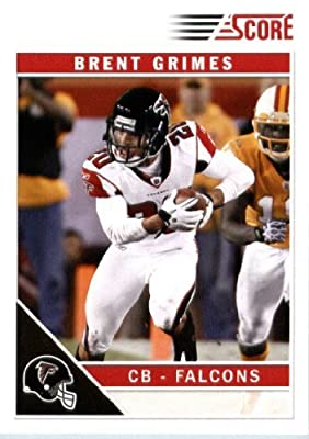 2011 Score Football Card #10 Brent Grimes RC - Atlanta Falcons (RC - Rookie Card) NFL Trading Card