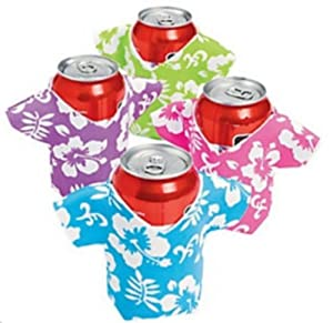 Foam hawaiian shirt can bottle coolio 39 s for Shirts and apparel koozie