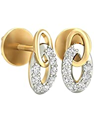 WearYourShine By PC Jeweller The Zaima 18 K Gold And Diamond Stud Earrings