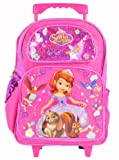 Sofia the First Princess Large 16 Rolling Backpack and One Bonus Gift Set