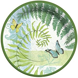 C.R. Gibson 8 Count Paper Dinner Plates, Flora and Fauna