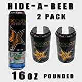 2 Pack 16oz Tall BOY Pounder Hide a Beer CAN Soda Camo Cover Wrap Sleeve Disguise by New Brand