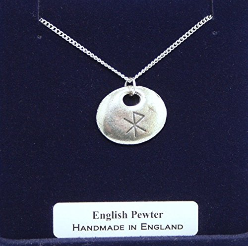 Viking Love Rune Pendant Necklace In Fine English Pewter (Gift Boxed)