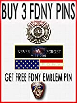 FDNY PIN SET - GET 3 PINS / 4TH FREE