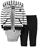 Carter's 3-piece Striped Cardigan Set (Black & White) (3 Months)