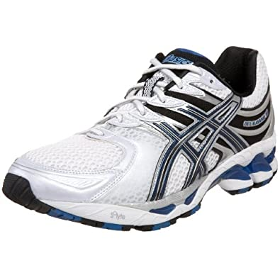 ASICS Men's GEL-Kayano 16 Running Shoe,White/Royal/Lightning,6 M
