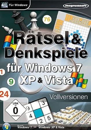 Rätsel und Denkspiele Spiele für Windws 7, XP und Vista (PC)