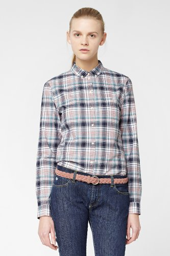 L!VE Long Sleeve Cotton Check Woven Shirt