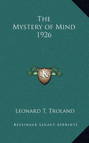 The Mystery of Mind 1926