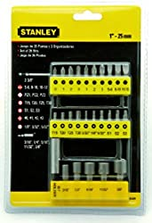 Stanley 6807123 29 Pieces Insert Bit Screwdriver Set