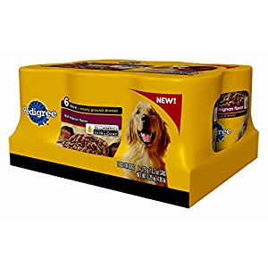 Pedigree 6-Count Meaty Ground Dinner Filet Mignon Flavor Multipack Canned Wet Food for Dogs, 13.2-Ounce, 4-Pack