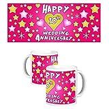 ToduGift Happy 10th wedding anniversary mug